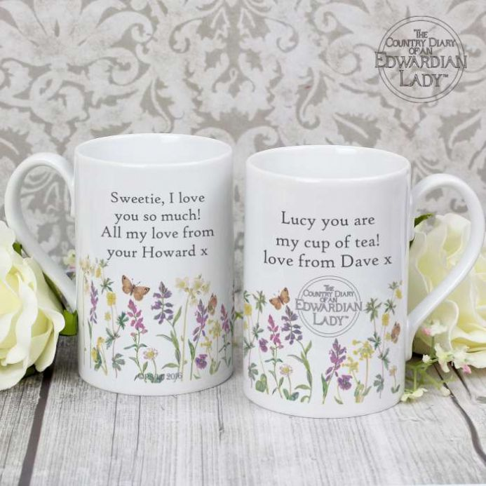 Personalised A Country Diary Wild Flowers Slim Mug | Personalised Gifts | The Present Season